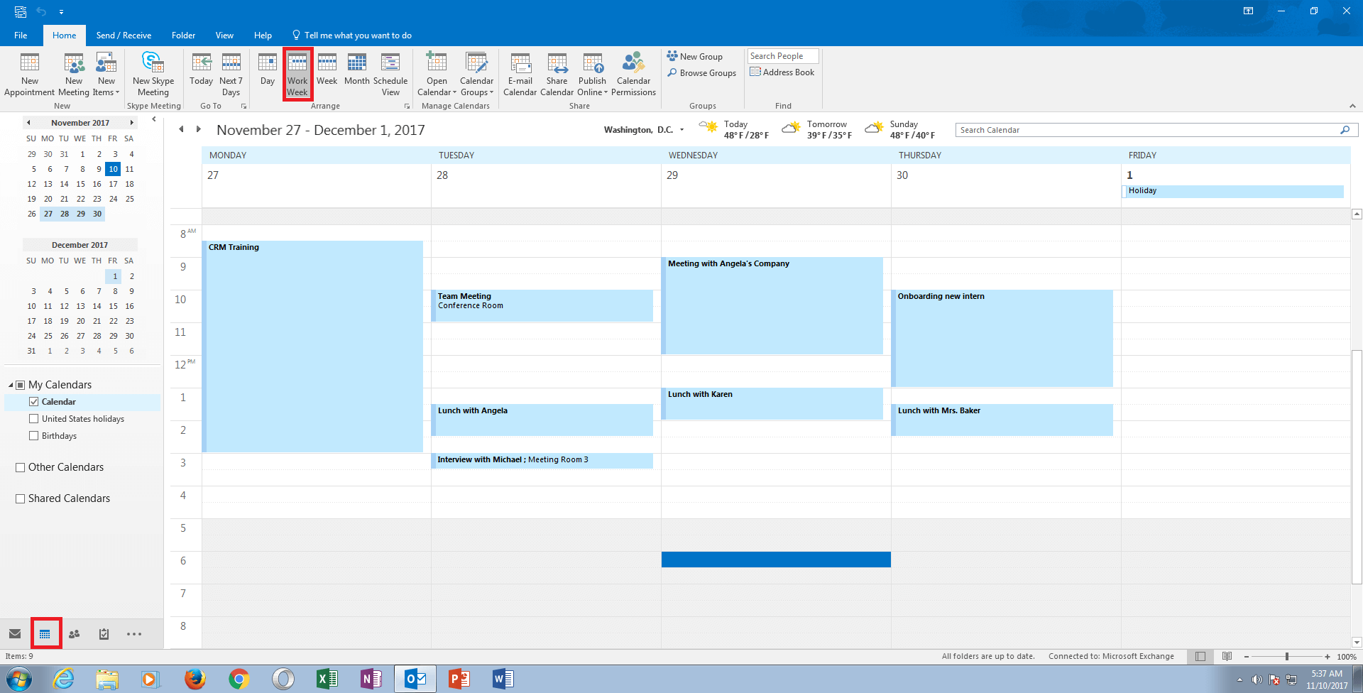 how to show outlook calendar in outlook email view