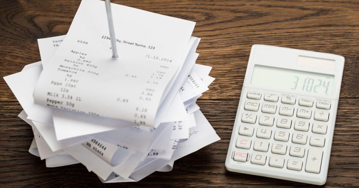 Why are receipts important for good bookkeeping?